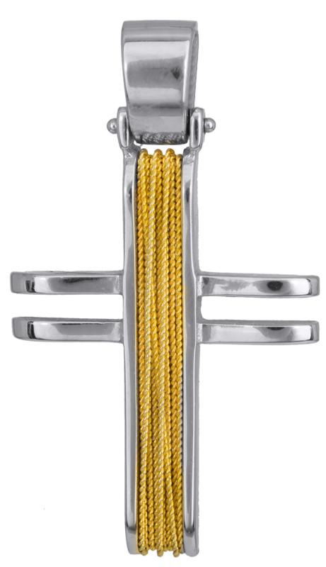 Σταυροί Βάπτισης - Αρραβώνα Χειροποίητος συρματερός σταυρός 14Κ 011448 Ανδρικό Χρυσός 14 Καράτια