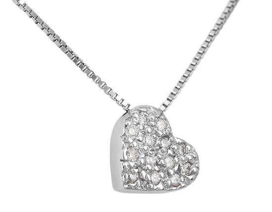 Λευκόχρυσο Κρεμαστό Κ18 με διαμάντια 001151 Χρυσός 18 Καράτια