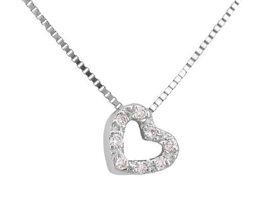 Λευκόχρυσο Κρεμαστό Κ18 με διαμάντια 001152 Χρυσός 18 Καράτια