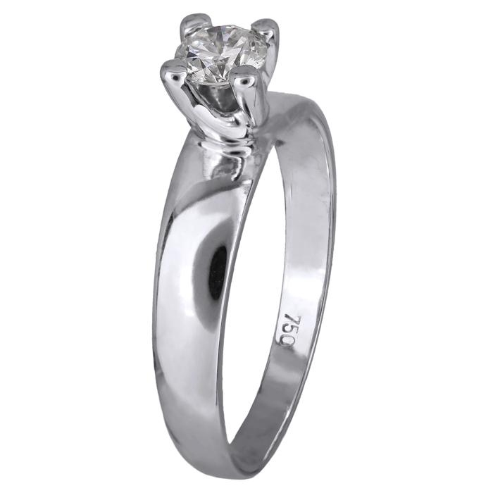 Δαχτυλίδι με μπριγιάν λευκόχρυσο 18Κ 011562 Χρυσός 18 Καράτια