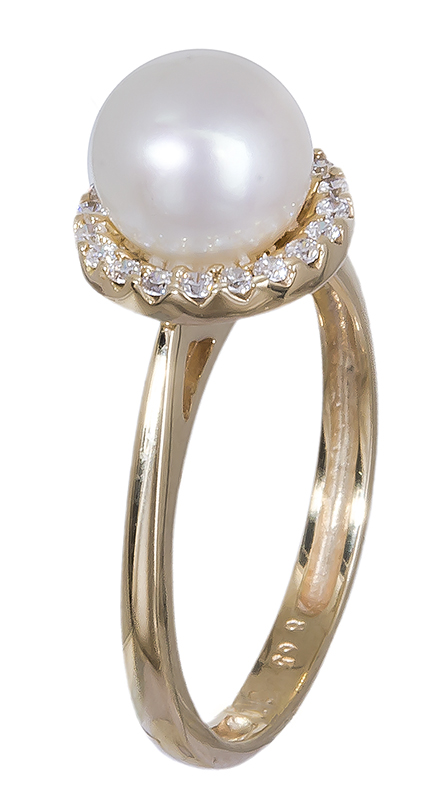 Χρυσό δαχτυλίδι 14K με μαργαριτάρι 001116 001116 Χρυσός 14 Καράτια χρυσά κοσμήματα δαχτυλίδια με μαργαριτάρια και διάφορες πέτρες