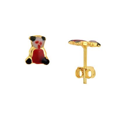Παιδικά Χρυσά Σκουλαρίκια Κ14 001190 Χρυσός 14 Καράτια