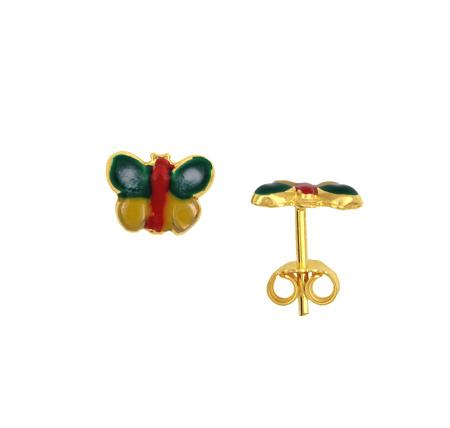 Παιδικά Χρυσά Σκουλαρίκια Κ14 001193 Χρυσός 14 Καράτια
