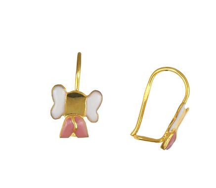 Παιδικά Χρυσά Σκουλαρίκια Κ14 001198 Χρυσός 14 Καράτια