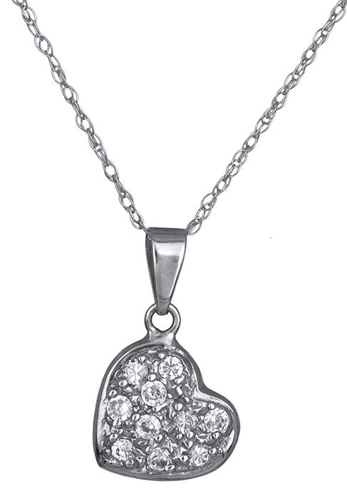 Λευκόχρυση Καρδιά Κ14 001246 001246 Χρυσός 14 Καράτια χρυσά κοσμήματα καρδιές