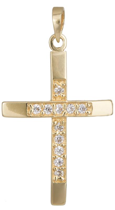 Σταυροί Βάπτισης - Αρραβώνα Χρυσός βαπτιστικός σταυρός 012922 012922 Γυναικείο Χρυσός 14 Καράτια