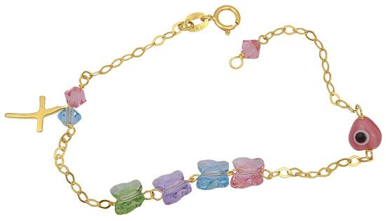 Παιδικό Χρυσό Βραχιόλι Κ14 001297 Χρυσός 14 Καράτια παιδικά κοσμήματα βραχιόλια
