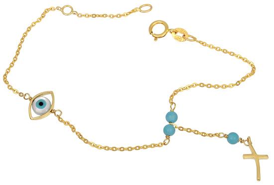 Χρυσό Βραχιόλι Κ14 001302 Χρυσός 14 Καράτια