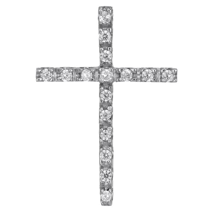 Σταυροί Βάπτισης - Αρραβώνα Γυναικείος σταυρός με πέτρες Κ14 013215 013215 Γυναικείο Χρυσός 14 Καράτια