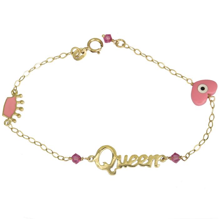 Χρυσό βραχιόλι Queen Κ14 013555 013555 Χρυσός 14 Καράτια