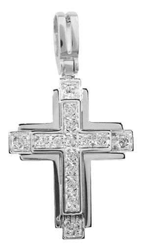 Σταυροί Βάπτισης - Αρραβώνα Λευκόχρυσος σταυρός 14K 001358 001358 Γυναικείο Χρυσός 14 Καράτια