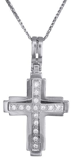 Βαπτιστικοί Σταυροί με Αλυσίδα Σταυρός για κορίτσι Κ14 C001374 001374C Γυναικείο Χρυσός 14 Καράτια