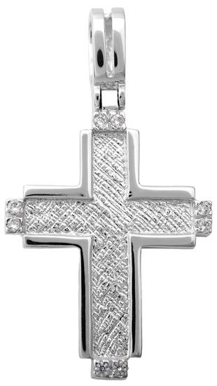 Σταυροί Βάπτισης - Αρραβώνα Λευκόχρυσος Σταυρός Κ14 001404 001404 Γυναικείο Χρυσός 14 Καράτια