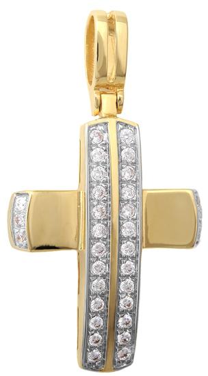 Σταυροί Βάπτισης - Αρραβώνα Χρυσός Σταυρός Κ14 001406 Γυναικείο Χρυσός 14 Καράτια