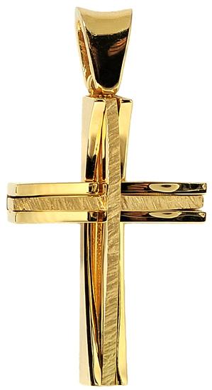 Σταυροί Βάπτισης - Αρραβώνα Χρυσός σταυρός Κ14 002537 Ανδρικό Χρυσός 14 Καράτια