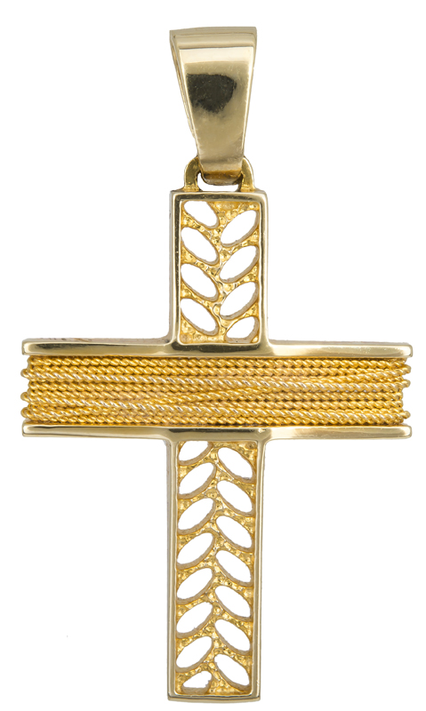 Σταυροί Βάπτισης - Αρραβώνα ΧΡΥΣΟΣ ΣΤΑΥΡΟΣ Κ14 014257 Ανδρικό Χρυσός 14 Καράτια