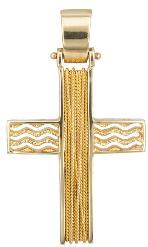 Σταυροί Βάπτισης - Αρραβώνα ΧΡΥΣΟΣ ΣΥΡΜΑΤΕΡΟΣ ΣΤΑΥΡΟΣ 14Κ 014259 Ανδρικό Χρυσός 14 Καράτια