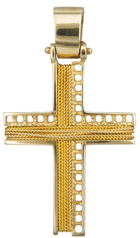 Σταυροί Βάπτισης - Αρραβώνα ΧΡΥΣΟΣ ΣΤΑΥΡΟΣ 14Κ 014265 Ανδρικό Χρυσός 14 Καράτια