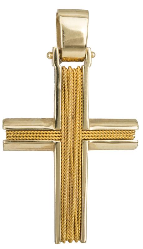 Σταυροί Βάπτισης - Αρραβώνα ΧΡΥΣΟΣ ΣΥΡΜΑΤΕΡΟΣ ΣΤΑΥΡΟΣ 14Κ 014271 Ανδρικό Χρυσός 14 Καράτια