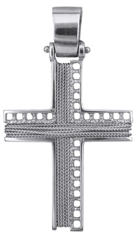 Σταυροί Βάπτισης - Αρραβώνα ΛΕΥΚΟΧΡΥΣΟΣ ΣΤΑΥΡΟΣ 14Κ 014280 014280 Ανδρικό Χρυσός 14 Καράτια