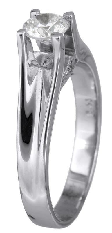 Μονόπετρο δαχτυλίδι λευκόχρυσο 18Κ με διαμάντι 001451 001451 Χρυσός 18 Καράτια