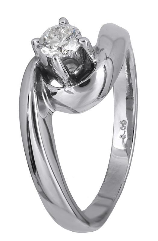 Δαχτυλίδι μονόπετρο 18Κ με διαμάντι 001454 Χρυσός 18 Καράτια