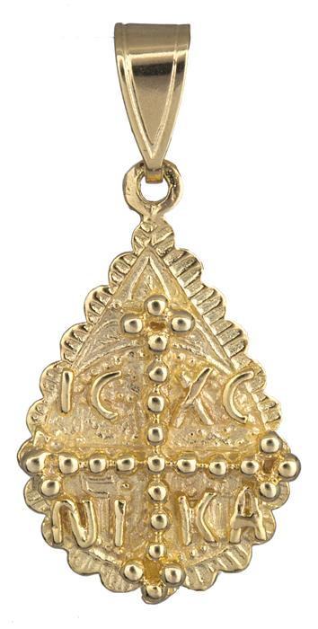 Φυλαχτό κωνσταντινάτο χρυσό Κ14 001469 001469 Χρυσός 14 Καράτια