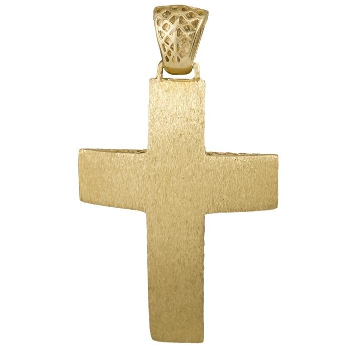 Σταυροί Βάπτισης - Αρραβώνα Χρυσός Ματ Σταυρός 14Κ 014711 Ανδρικό Χρυσός 14 Καράτια