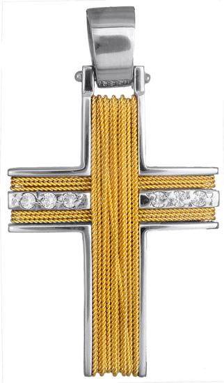 Σταυροί Βάπτισης - Αρραβώνα Γυναικείος σταυρός με σύρμα 14Κ 001474 004474 Γυναικείο Χρυσός 14 Καράτια
