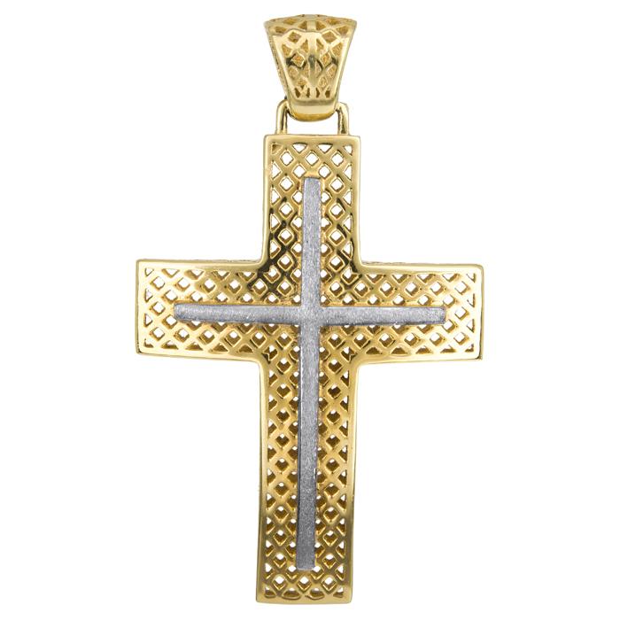 Σταυροί Βάπτισης - Αρραβώνα Ανδρικός Σταυρός 014982 014982 Ανδρικό Χρυσός 14 Καράτια