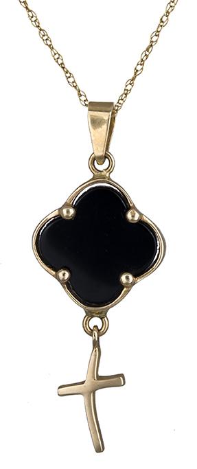 Χρυσό κολιέ με σταυρουδάκι 14Κ 001524 001524 Χρυσός 14 Καράτια