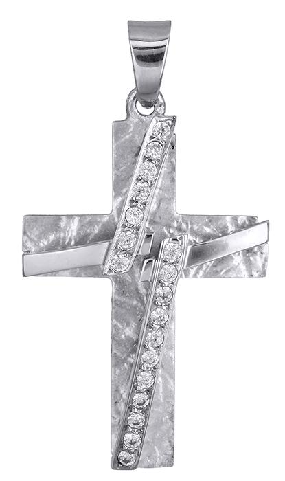 Σταυροί Βάπτισης - Αρραβώνα Γυναικείος Σταυρός Λευκόχρυσος Κ14 017429 017429 Γυναικείο Χρυσός 14 Καράτια