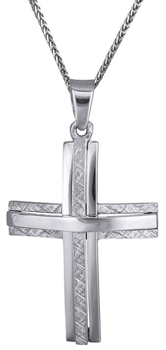 Βαπτιστικοί Σταυροί με Αλυσίδα Ανδρικός σταυρός c017536 017536C Ανδρικό Χρυσός 14 Καράτια