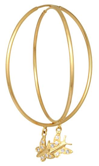 Χρυσοί Κρίκοι-Σκουλαρίκια Κ14 001778 Χρυσός 14 Καράτια