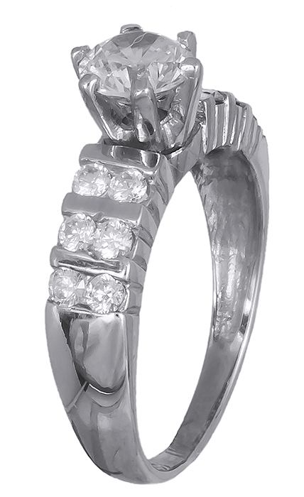 Ασημένιο μονόπετρο δαχτυλίδι 020077 020077 Ασήμι