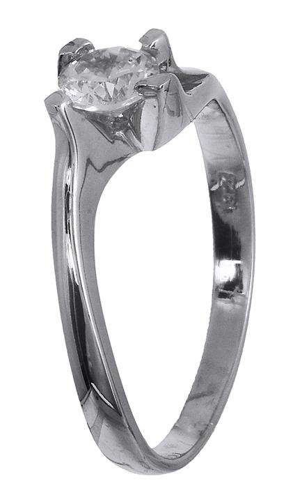Λευκόχρυσο μονόπετρο δαχτυλίδι 14 καράτια 001927 001927 Χρυσός 14 Καράτια