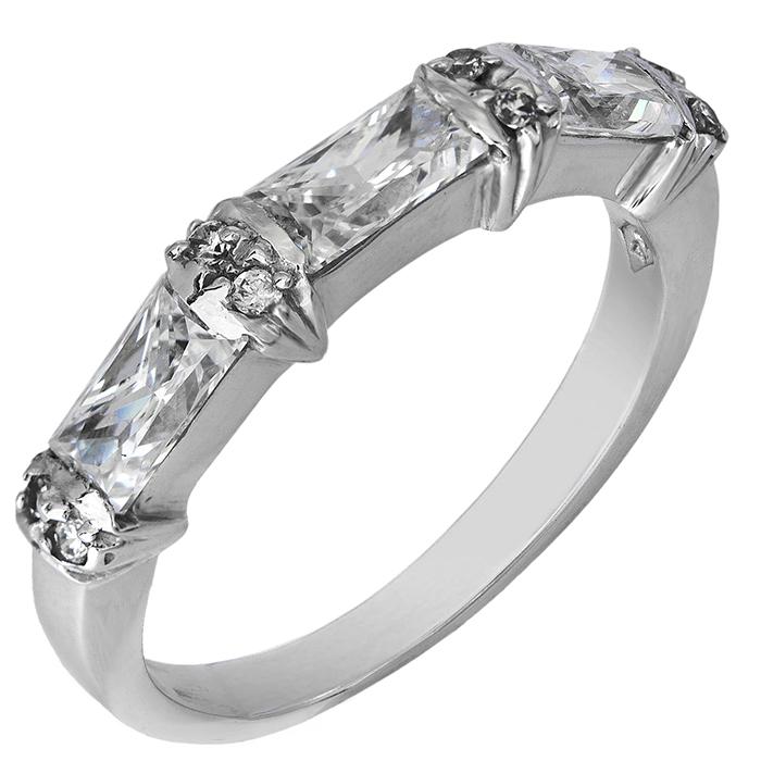 Σειρέ λευκόχρυσο δαχτυλίδι Κ14 001962 001962 Χρυσός 14 Καράτια