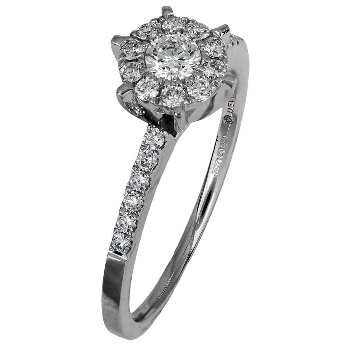 Μονόπετρο δαχτυλίδι με διαμάντια Κ18 019630 019630 Χρυσός 18 Καράτια χρυσά κοσμήματα δαχτυλίδια μονόπετρα