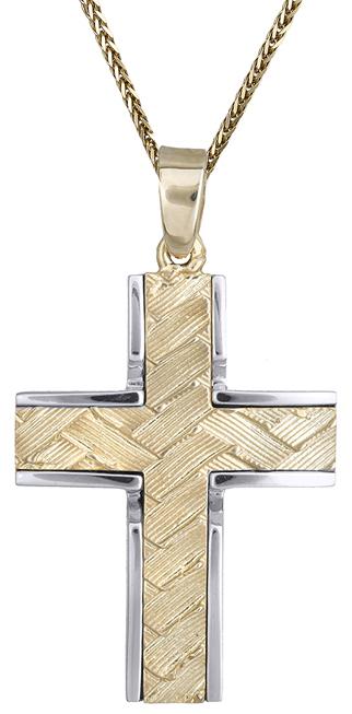 Βαπτιστικοί Σταυροί με Αλυσίδα Βαπτιστικός σταυρός για αγόρι 9Κ C012494 012494C Ανδρικό Χρυσός 9 Καράτια