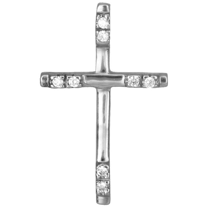 Λευκόχρυσος σταυρός 14Κ 001998 001998 Χρυσός 14 Καράτια