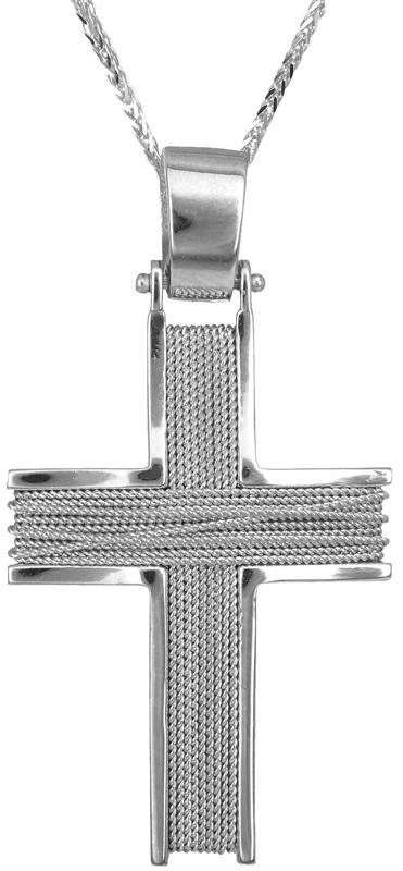 Βαπτιστικοί Σταυροί με Αλυσίδα Ανδρικός σταυρός 18Κ C013043 013043C Ανδρικό Χρυσός 18 Καράτια