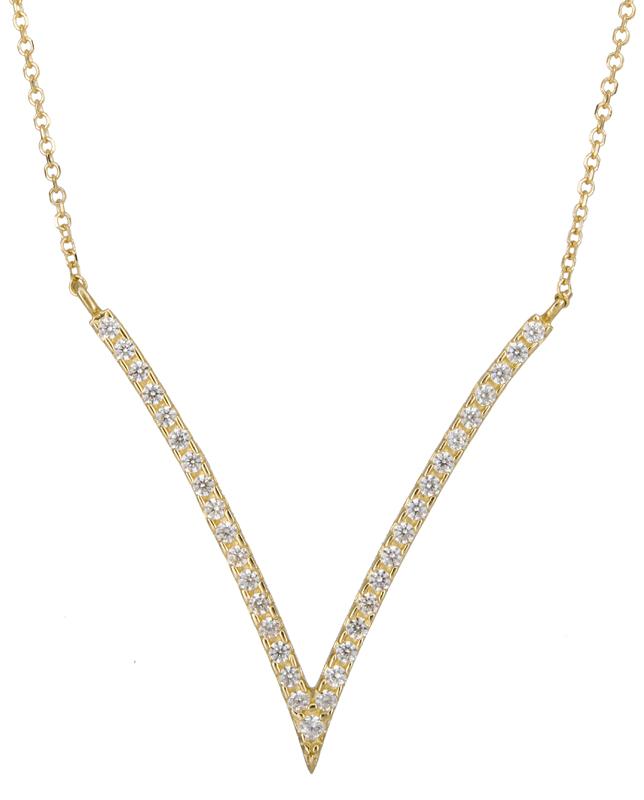 Γυναικείο χρυσό κολιέ V 14K 020862 020862 Χρυσός 14 Καράτια
