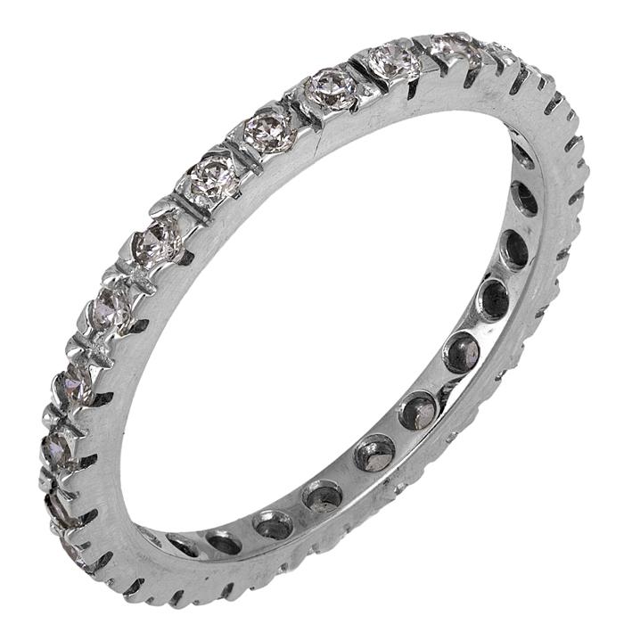 Λευκόχρυσο δαχτυλίδι 14Κ με ζιργκόν 002096 002096 Χρυσός 14 Καράτια χρυσά κοσμήματα δαχτυλίδια σειρέ ολόβερα