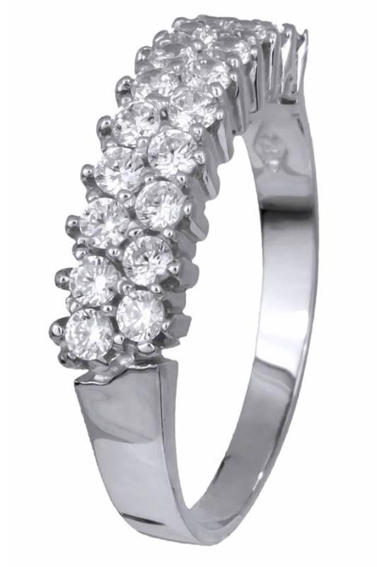 Λευκόχρυσο σειρέ δαχτυλίδι 14Κ 002098 002098 Χρυσός 14 Καράτια