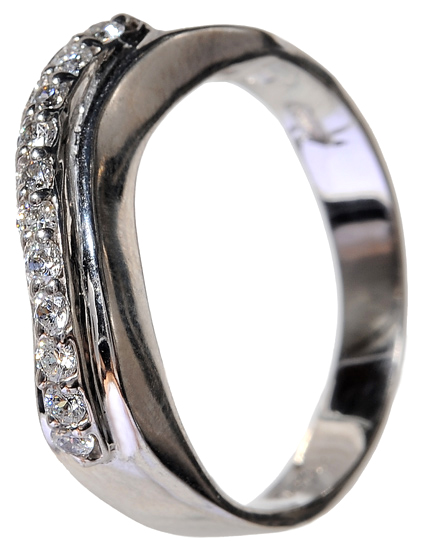 Σειρέ δαχτυλίδι λευκόχρυσο 14 K 002100 Χρυσός 14 Καράτια
