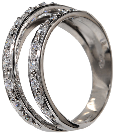 Λευκόχρυσο δαχτυλίδι 14Κ 002104 002104 Χρυσός 14 Καράτια χρυσά κοσμήματα δαχτυλίδια με μαργαριτάρια και διάφορες πέτρες