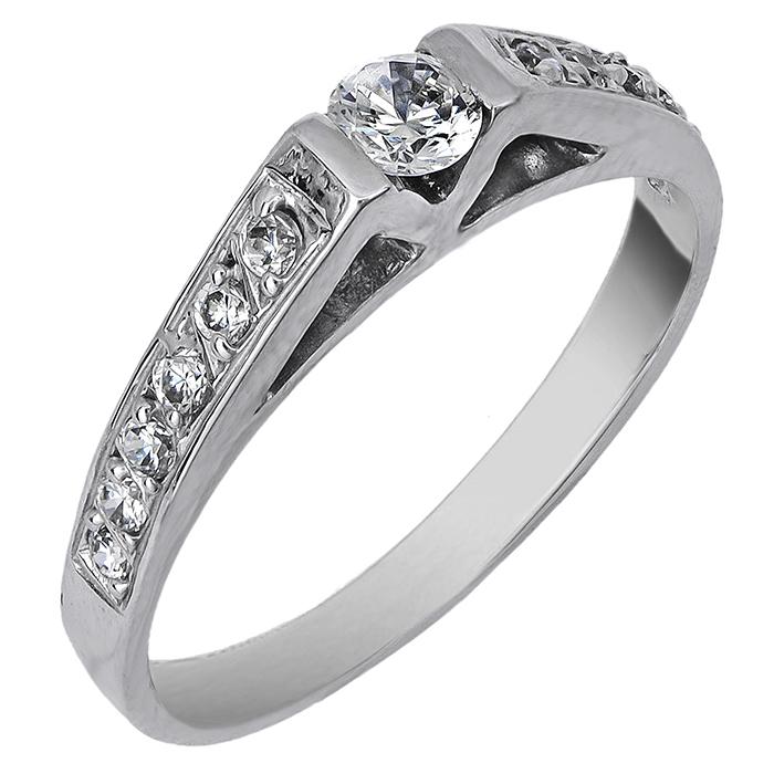 Δαχτυλίδι μονόπετρο Κ9 020056 020056 Χρυσός 9 Καράτια