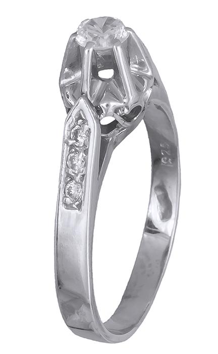 Ασημένιο Μονόπετρο 020001 020001 Ασήμι ασημένια κοσμήματα μονόπετρα δαχτυλίδια