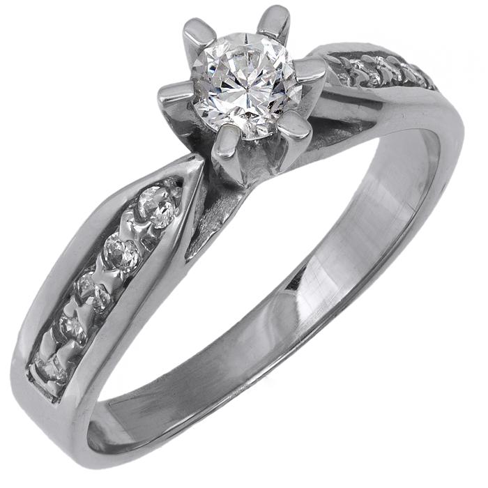 Μονόπετρο λευκόχρυσο δαχτυλίδι 14 Κ 002132 002132 Χρυσός 14 Καράτια