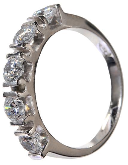 Σειρέ δαχτυλίδι λευκόχρυσο 14 K 002136 Χρυσός 14 Καράτια